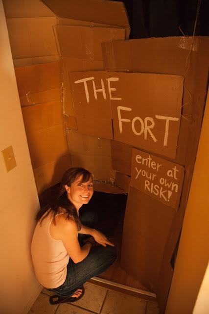 Adult Cardboard Fort 2011