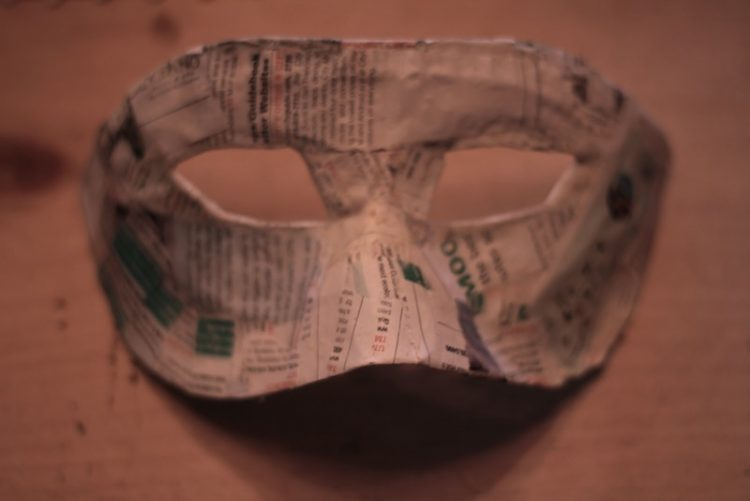 Diy masquerade mask how to make a masquerade mask for What to make out of paper mache