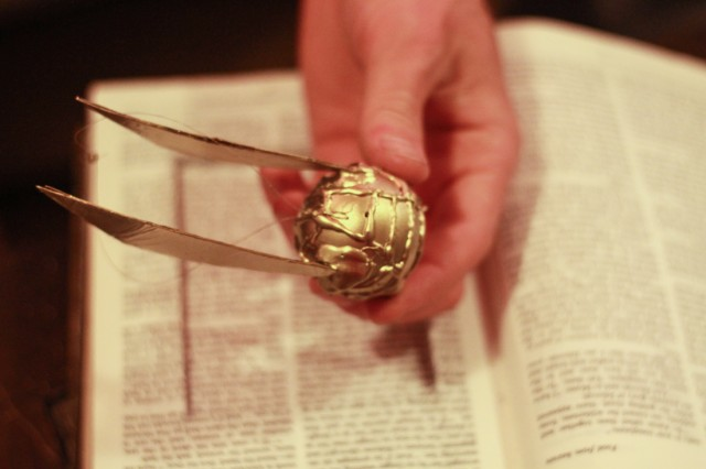 Golden Snitch Ornament DIY - Harry Potter Holiday Craft