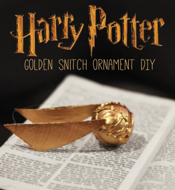 Golden Snitch Ornament DIY - Harry Potter Craft