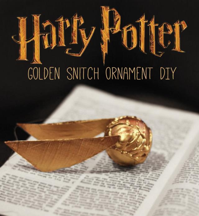 Golden Snitch Ornament Diy Harry Potter Craft