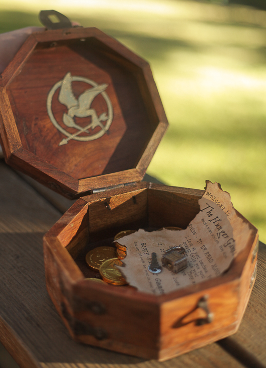 Hunger Games treasure hunt chest. Geekout!