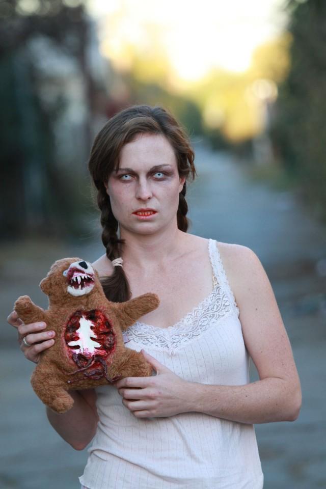 Zombie Teddy DIY (with Zombie Girl)