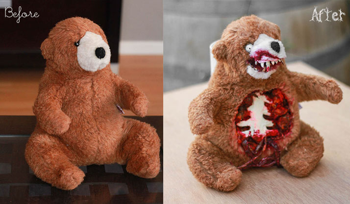 Zombie Teddy - DIY Before/After