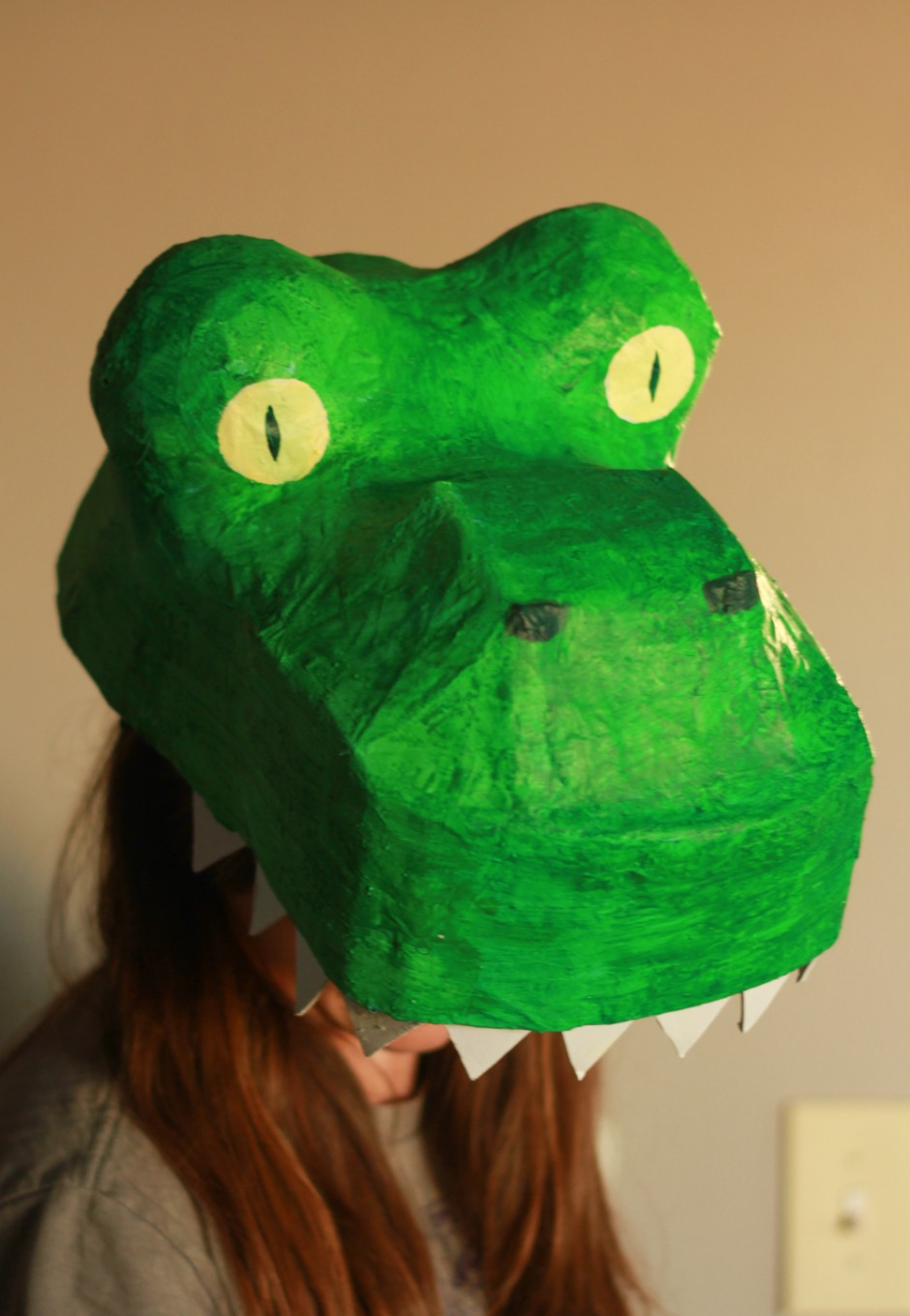 T-rex costume DIY tutorial: Dinosaur mask