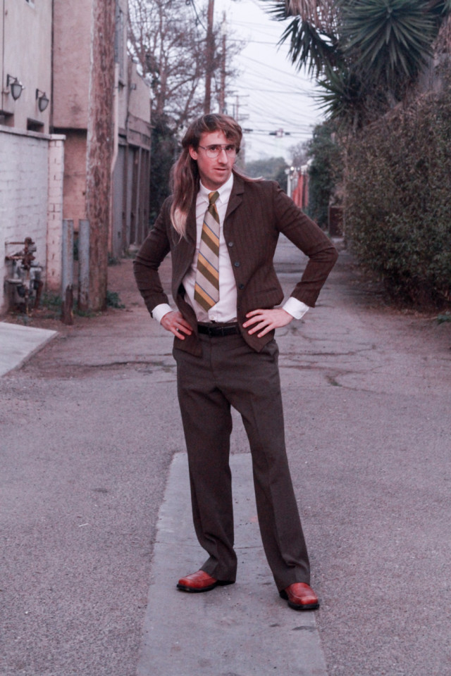 Anchorman costume ideas ; Awkward 80's prom date