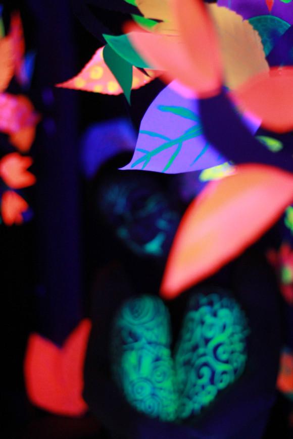Glow in the dark cardboard fort