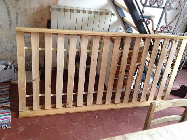 Bed Frame Table DIY