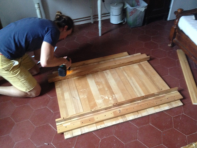 Upcycled bed frame - Upcycled Table