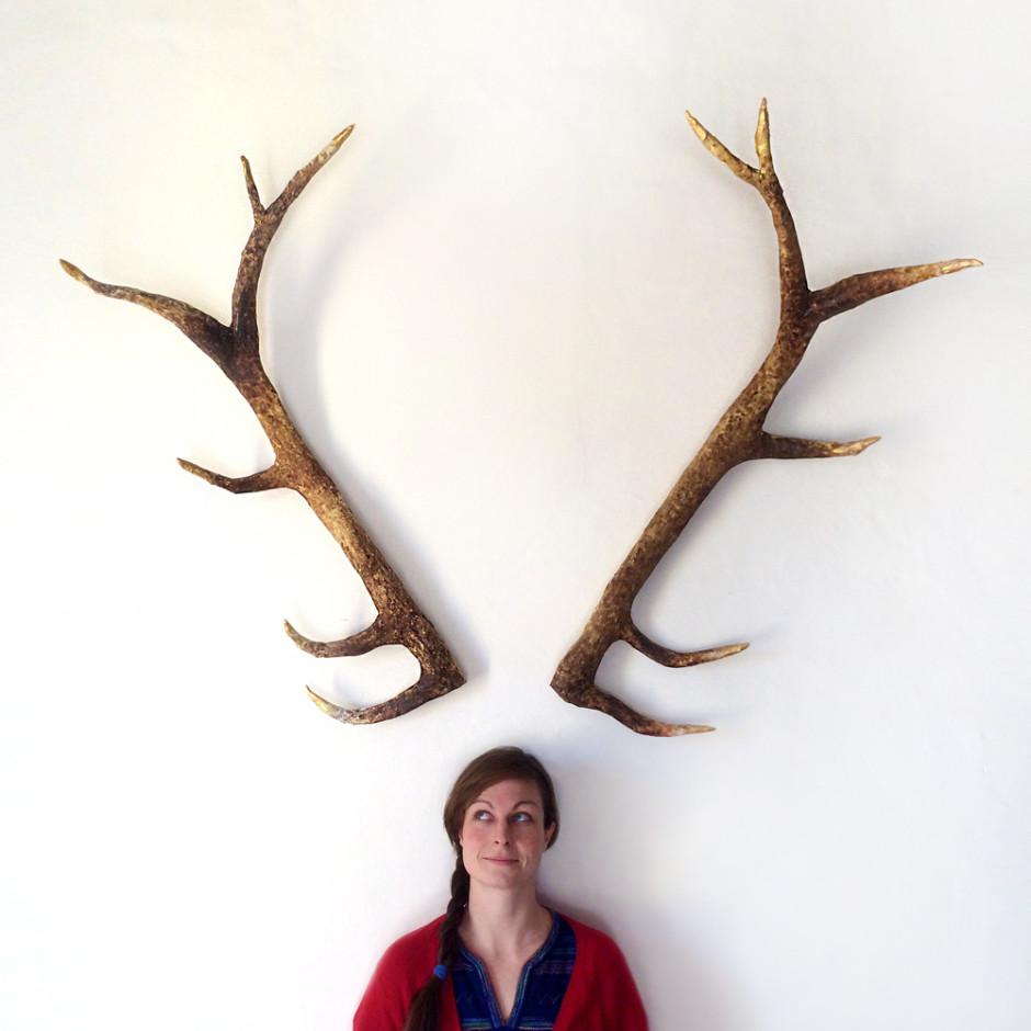 DIY Wall art: DIY Deer Antlers