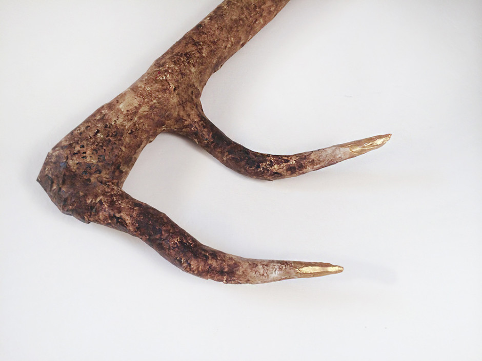 Super easy paper mache deer antler tutorial!