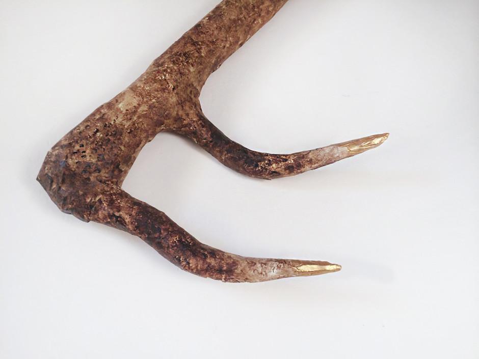Super easy paper mache deer antler tutorial!