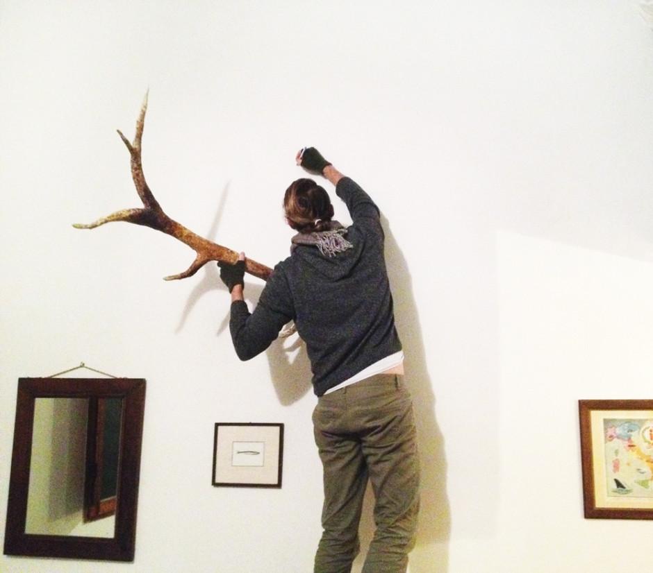 Paper mache deer antler tutorial