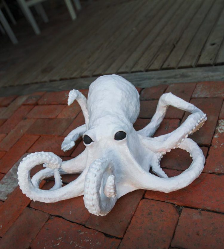 creepy paper mache octopus craft tutorial