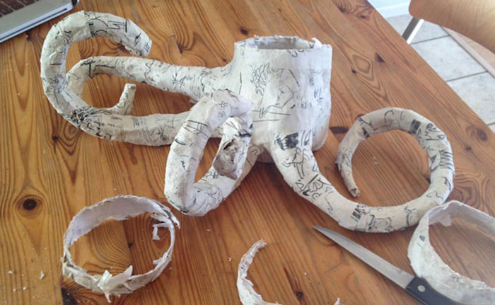 Octopus Art Projects: Octopus out of paper