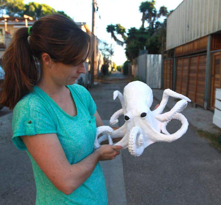 Paper Mache Octopus Craft DIY