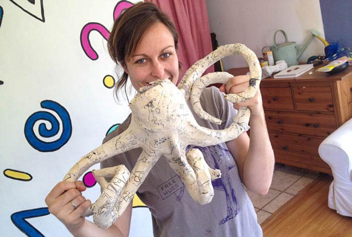 Paper Mache Octopus DIY tutorial