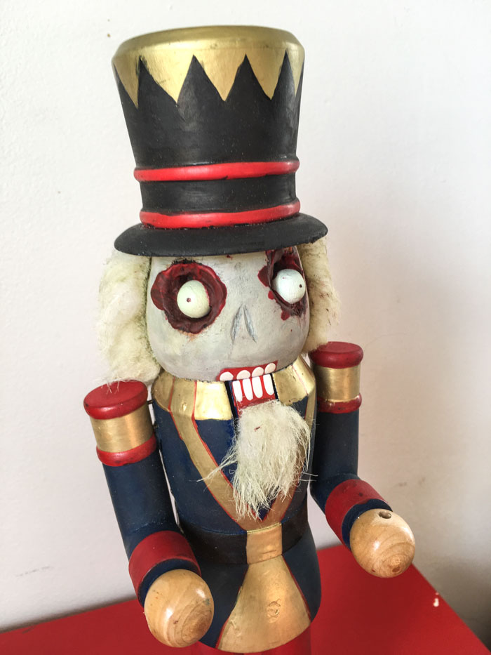 Creepy Halloween Nutcracker Craft
